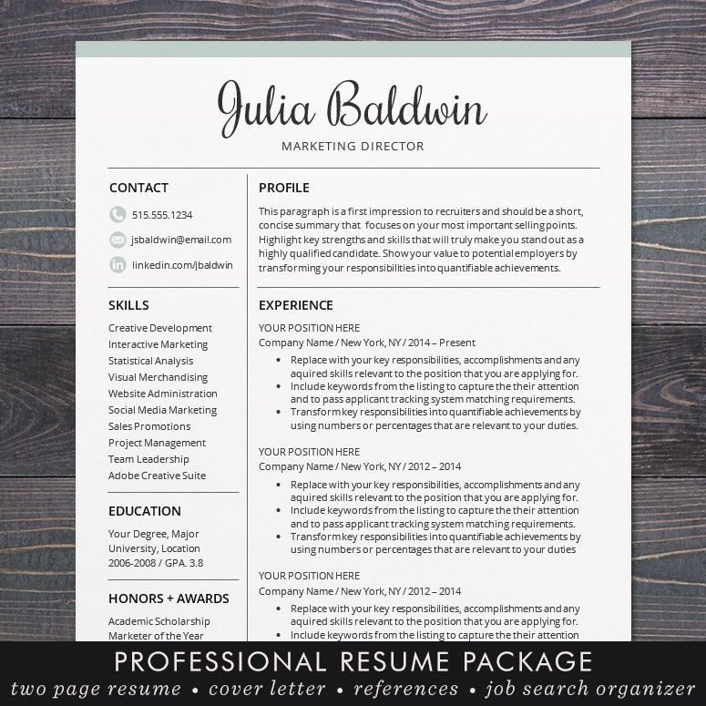 Professional resume cv template mac or pc for word creative professional resume cv template mac or pc for word creative modern blue free cover letter instant download the julia yelopaper Image collections