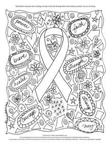 cancer coloring pages - image result for childhood cancer coloring page cancer