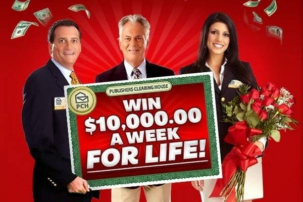 entering sweepstakes for a living pch com 10 000 a week for life sweepstakes giveaway no 5174