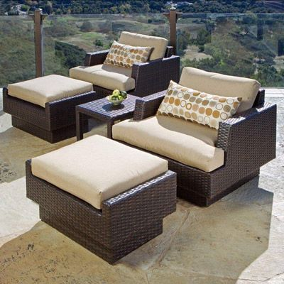 New Portofino Club Chair With Ottoman And Table 2 Pack Dengan