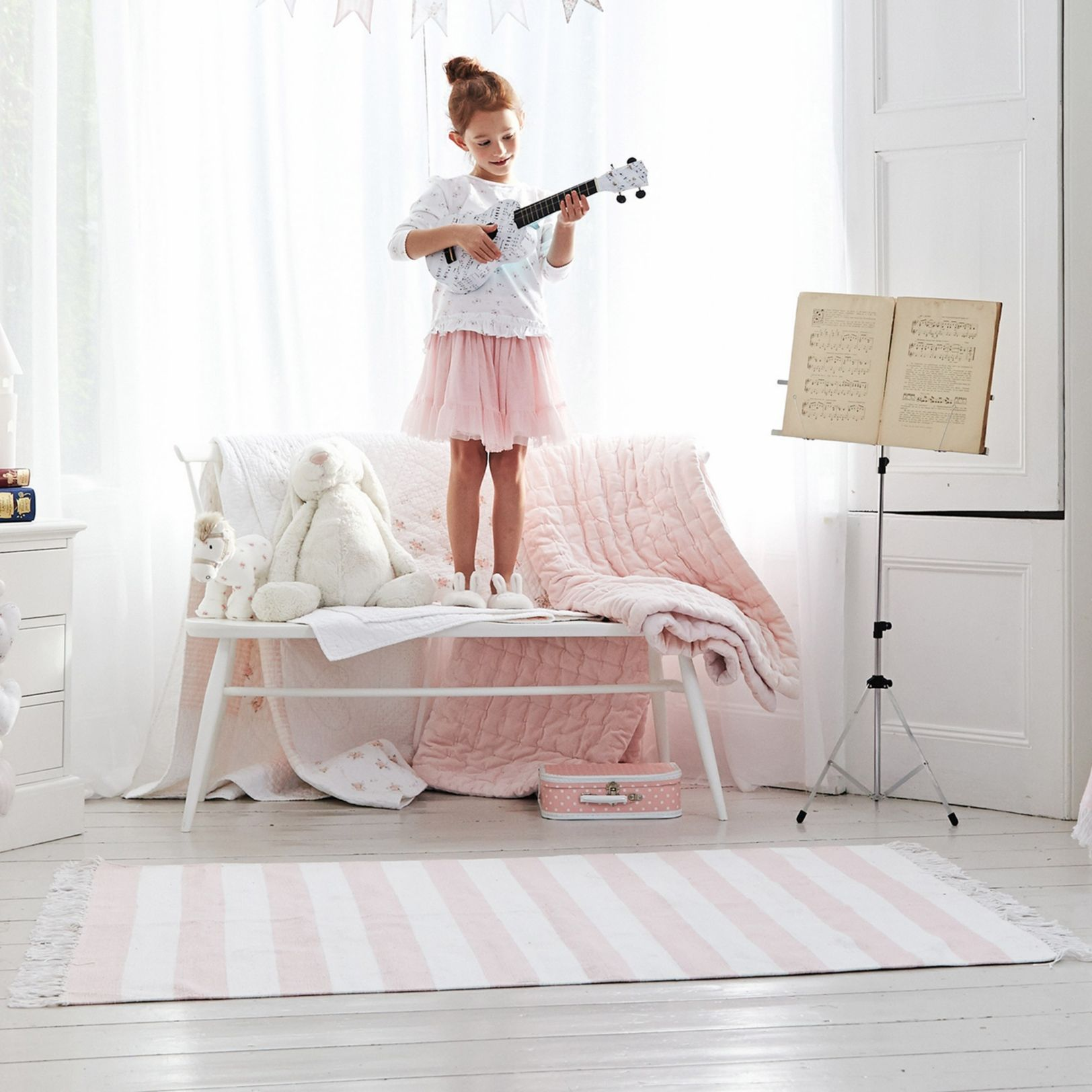 Pink Stripe Rug The White Company Uk S Bedroom