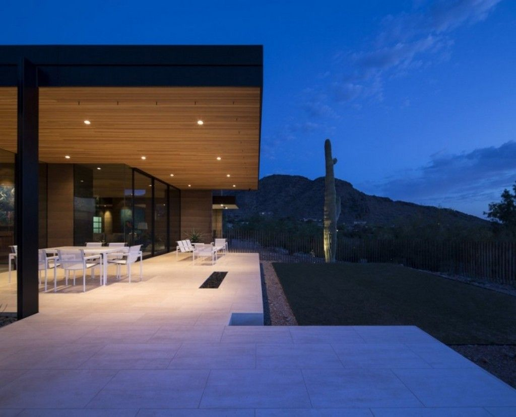Architecture Overhang Flat Roof Terrace Exterior With