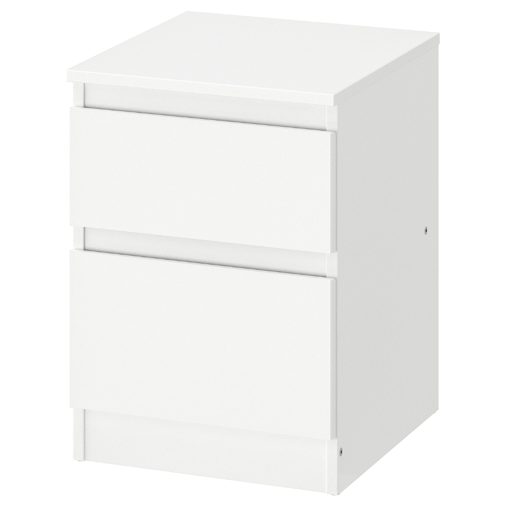 Kullen Chest Of 2 Drawers White 35x49 Cm Ikea Ireland In 2020 Ikea Bedside Table Drawers