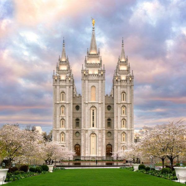 Salt Lake City Spring: Salt Lake Temple Afternoon Glow