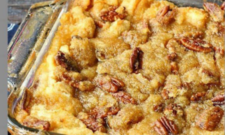 Pecan Pie Bread Pudding without the crust! – AllinRecipes