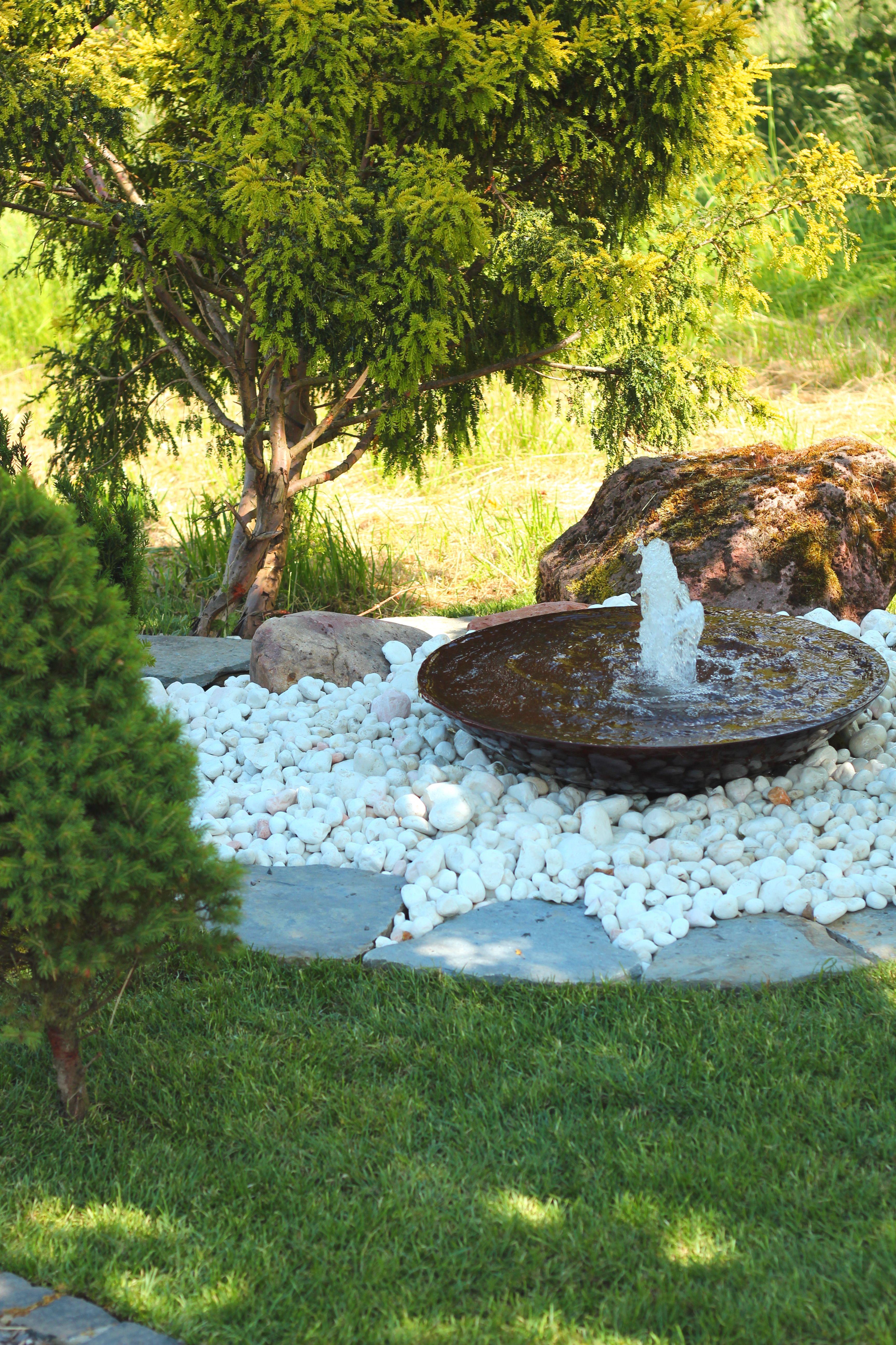 Stahlbrunnen Wasserschale Brunnen Garten Gartenbrunnen Terrassenbrunnen