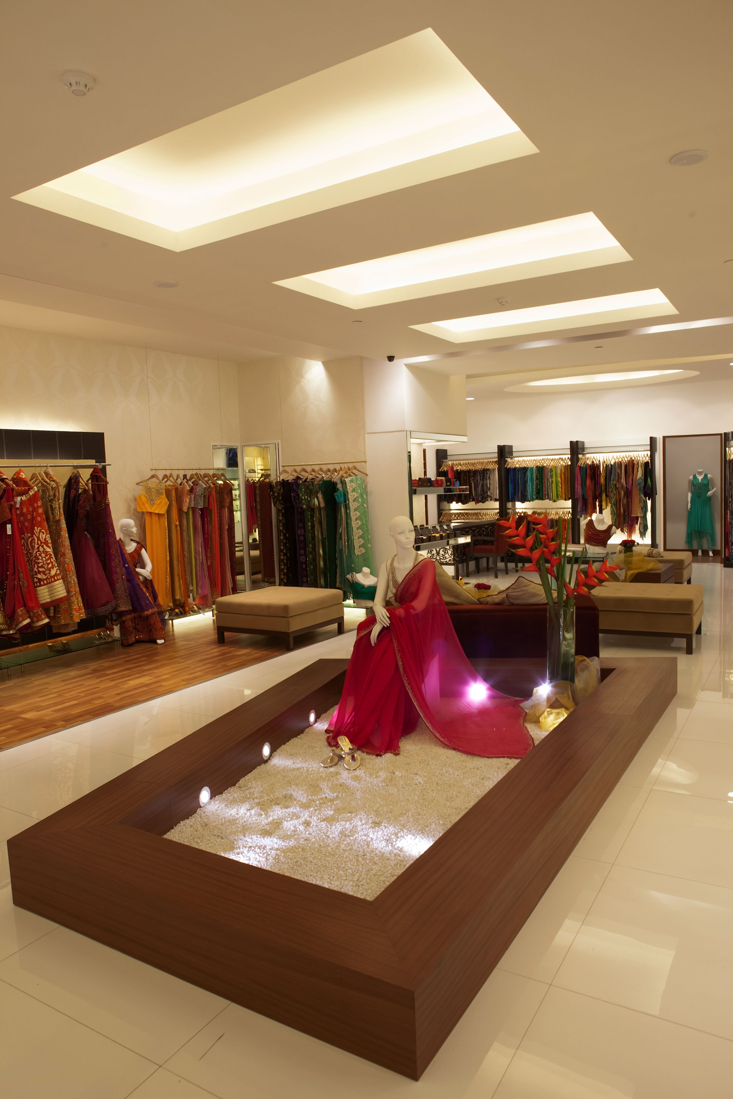 Indian designer bridal wear clothing boutique interior bridal boutique interior boutique interior design