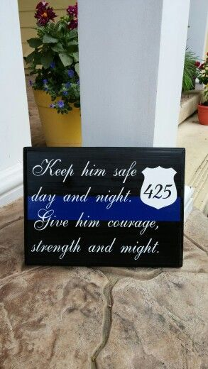 LEOW ON DUTY -- THIN BLUE LINE PLAQUES.. ORDER ON ETSY at LEOW ON DUTY