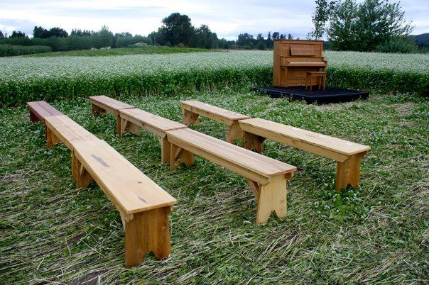 And These Wedding Benches Were Homemade By The Groom S Father Who Also Farms