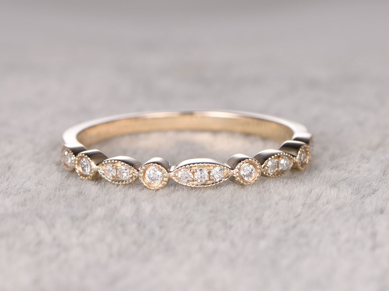 Brilliant Bijou 14k 1.5mm Milgrain Mens Womens Wedding Anniversary Band Finger