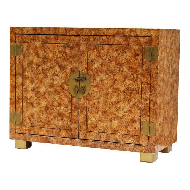 Henredon Faux-Tortoise Cabinet