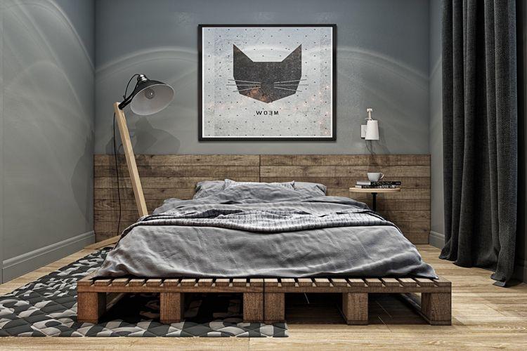 40+ Masculine Bedroom Ideas & Inspirations   Industrial bedroom ...