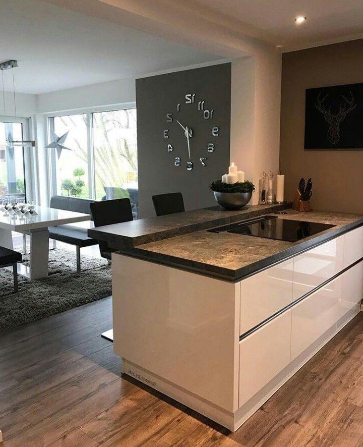 Wohnküche Kücheninsel: Pin Von Nicole Baader Auf Küche In 2019