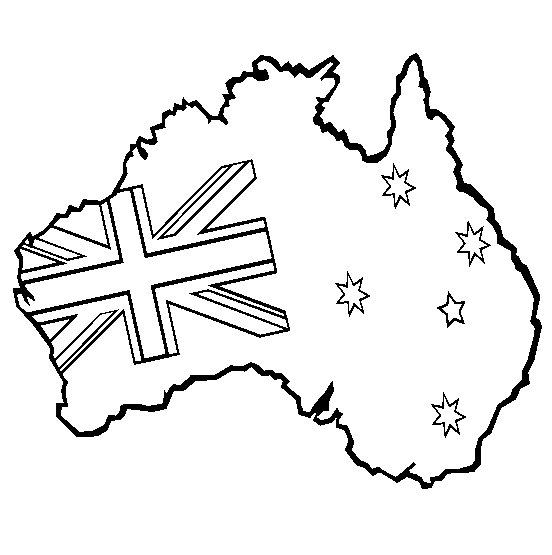 Print coloring page and book, Australia Coloring Page for kids of ...