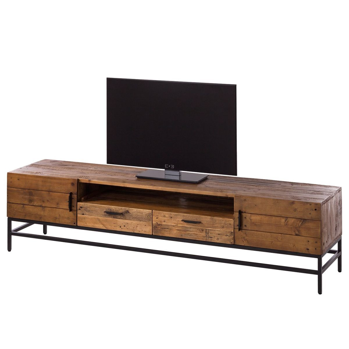 tv lowboard grasby ii altholz pinie metall pinie dunkel schwarz ars manufacti. Black Bedroom Furniture Sets. Home Design Ideas