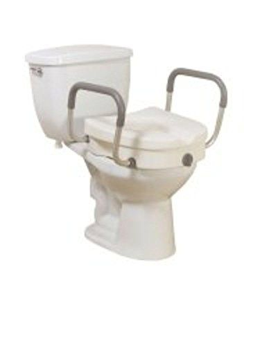 12008kdr Raised Toilet Seat With Removable Padded Arms Click