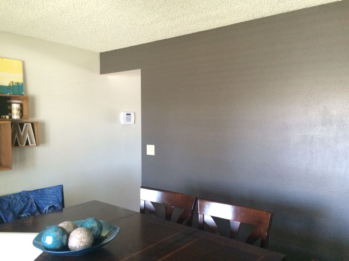 Olympic Paint Oswego Tea On Accent Wall In My Dining Room Neutral Color