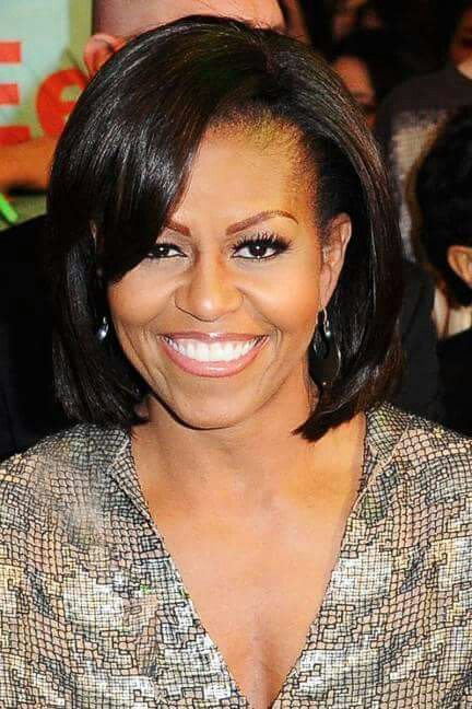 First Lady Michelle Obama Michelle Obama Celebrity Hairstyles Obama