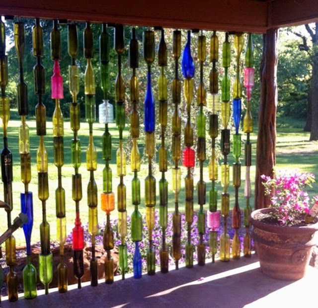 diy garden fencing ideas decorative garden fence panels of recycled bottles