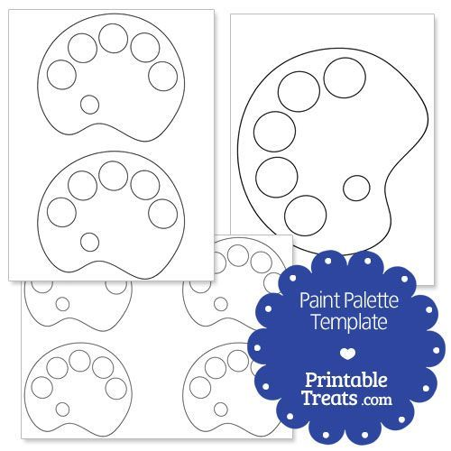 Printable Paint Palette Shape Template Halloween Pinterest   Free Vip Pass  Template  Free Pass Template