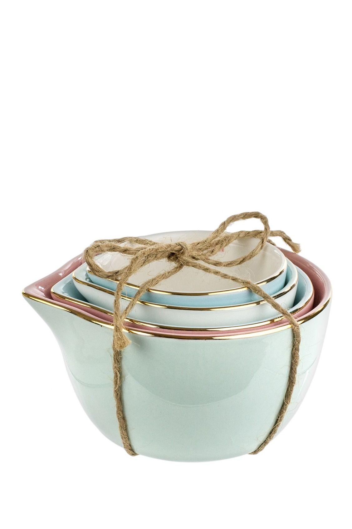 Tri Coastal Design Ceramic 4 Piece Measuring Cups