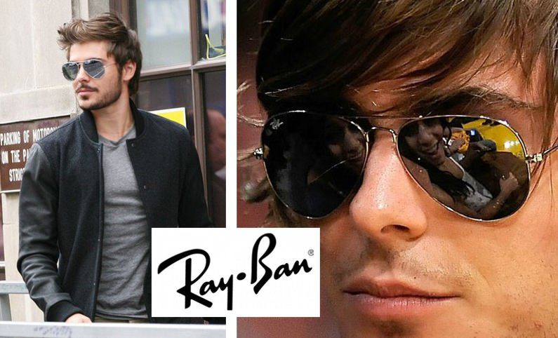 gafas ray ban aviador marrones