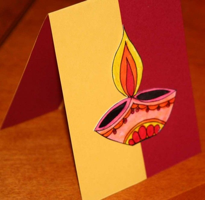 Card Making Ideas For Children Part - 16: Diwali Fire Cracker Card | 15+ Diwali Card Making Ideas For Kids - Kandils,