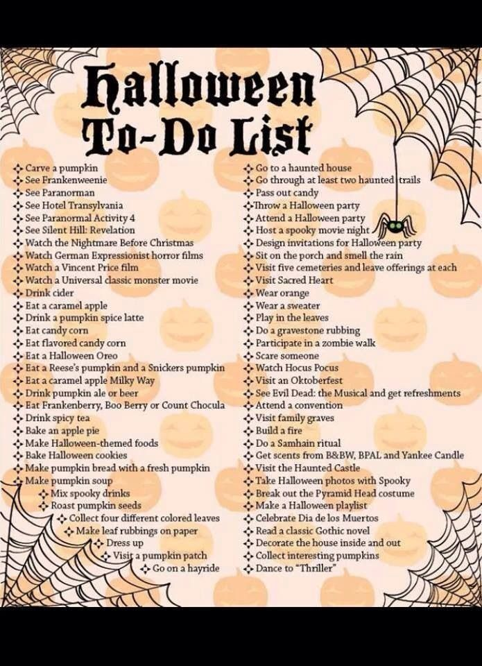 Halloween To Do List Pictures, Photos, and Images for Facebook, Tumblr, Pinterest, and Twitter