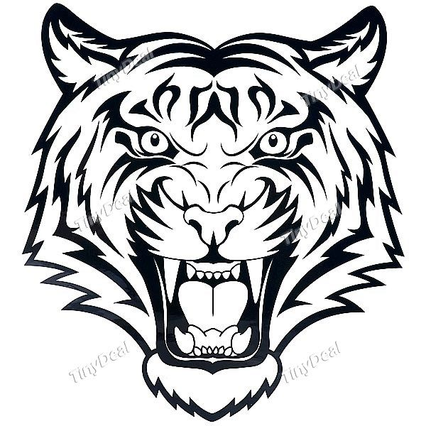 Waterproof tiger head pattern tattoo stickers http www tinydeal
