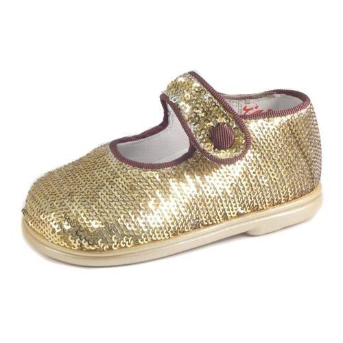 Zapatos dorados con velcro infantiles uEyXUOAlf5