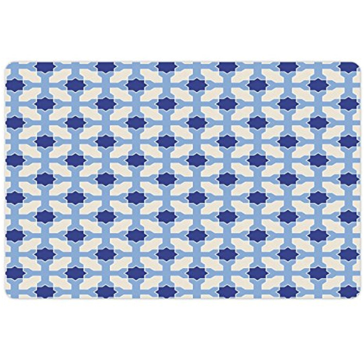 Navy and White Pet Mats for Food and Water by Lunarable, Conceptual ...
