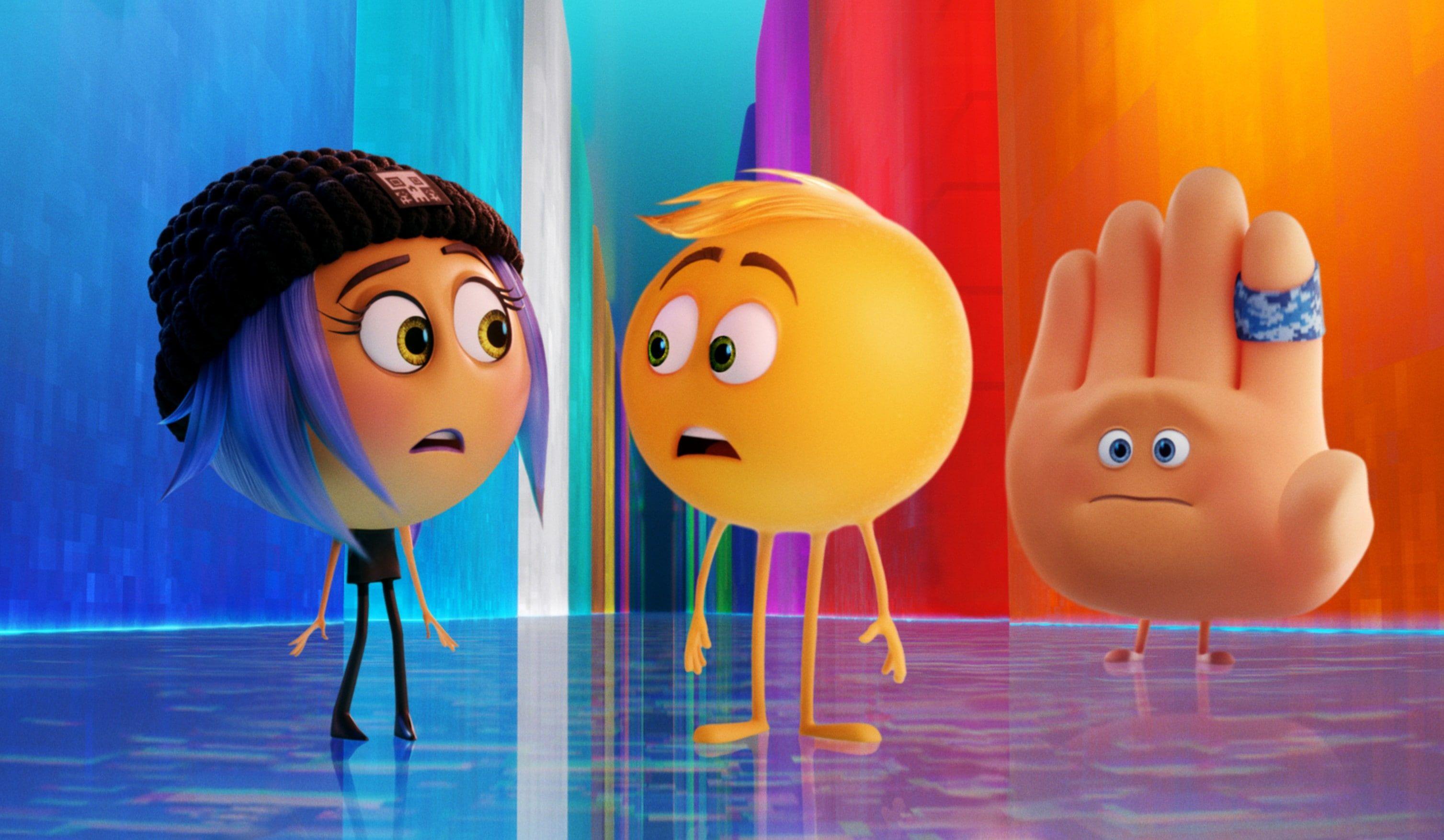 2017 The Emoji Movie Animation Jailbreak Gene Hi 5 2k Wallpaper Hdwallpaper Desktop In 2020 Emoji Movie Emoji Animation