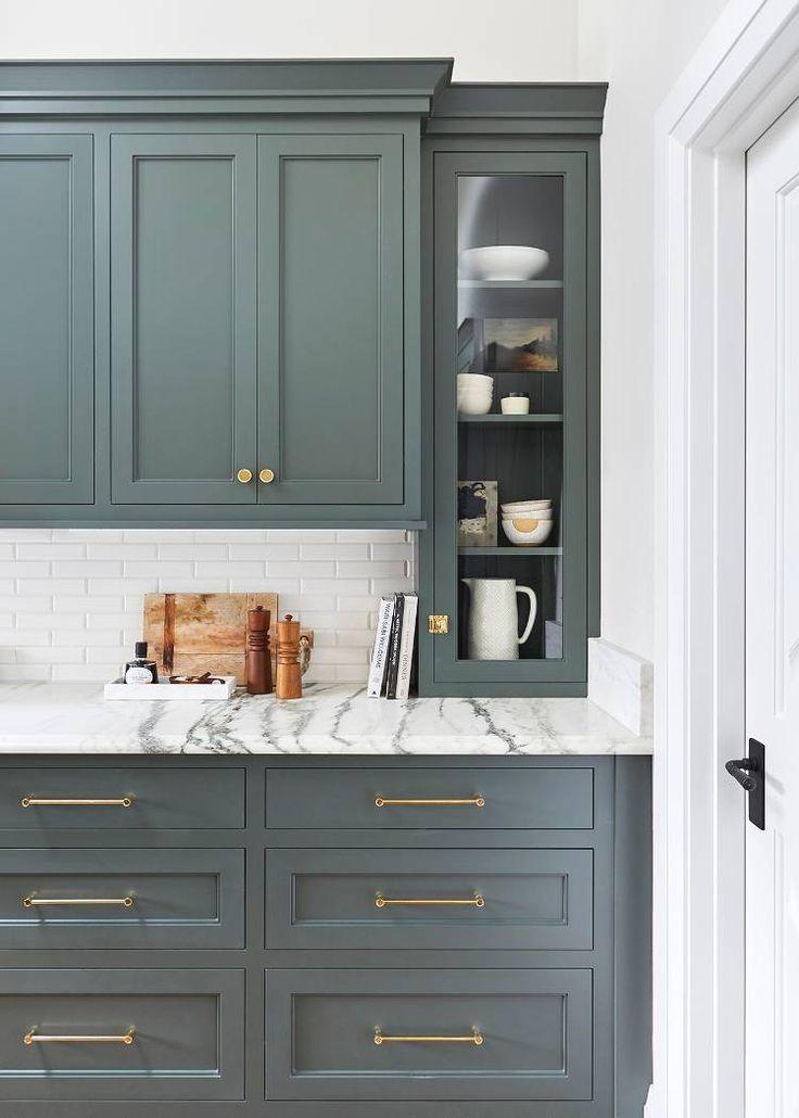 Kitchen Cabinet Ideas | Green kitchen cabinets, New kitchen