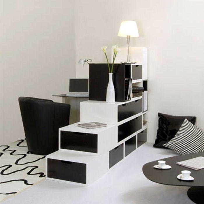 einrichtungsbeispiele schwarz weiß wohnzimmer einrichten mobiliar, Moderne deko