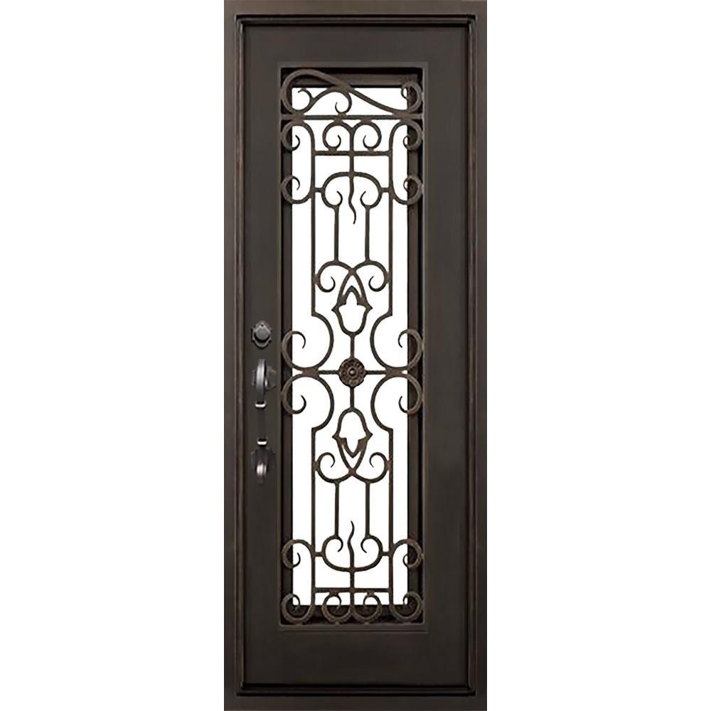 Florida Iron Doors Iron Doors Front Door Hardware Clear Glass