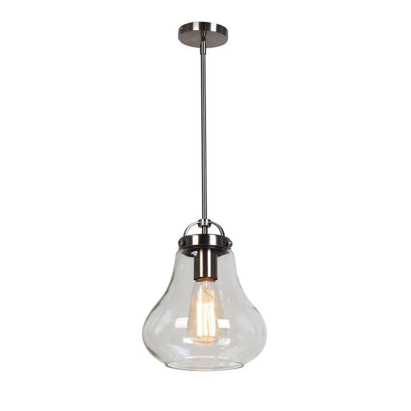 Access lighting 55545 flux 1 light mini pendant antique nickel access lighting 55545 flux 1 light mini pendant antique nickel clear indoor lighting pendants aloadofball Choice Image