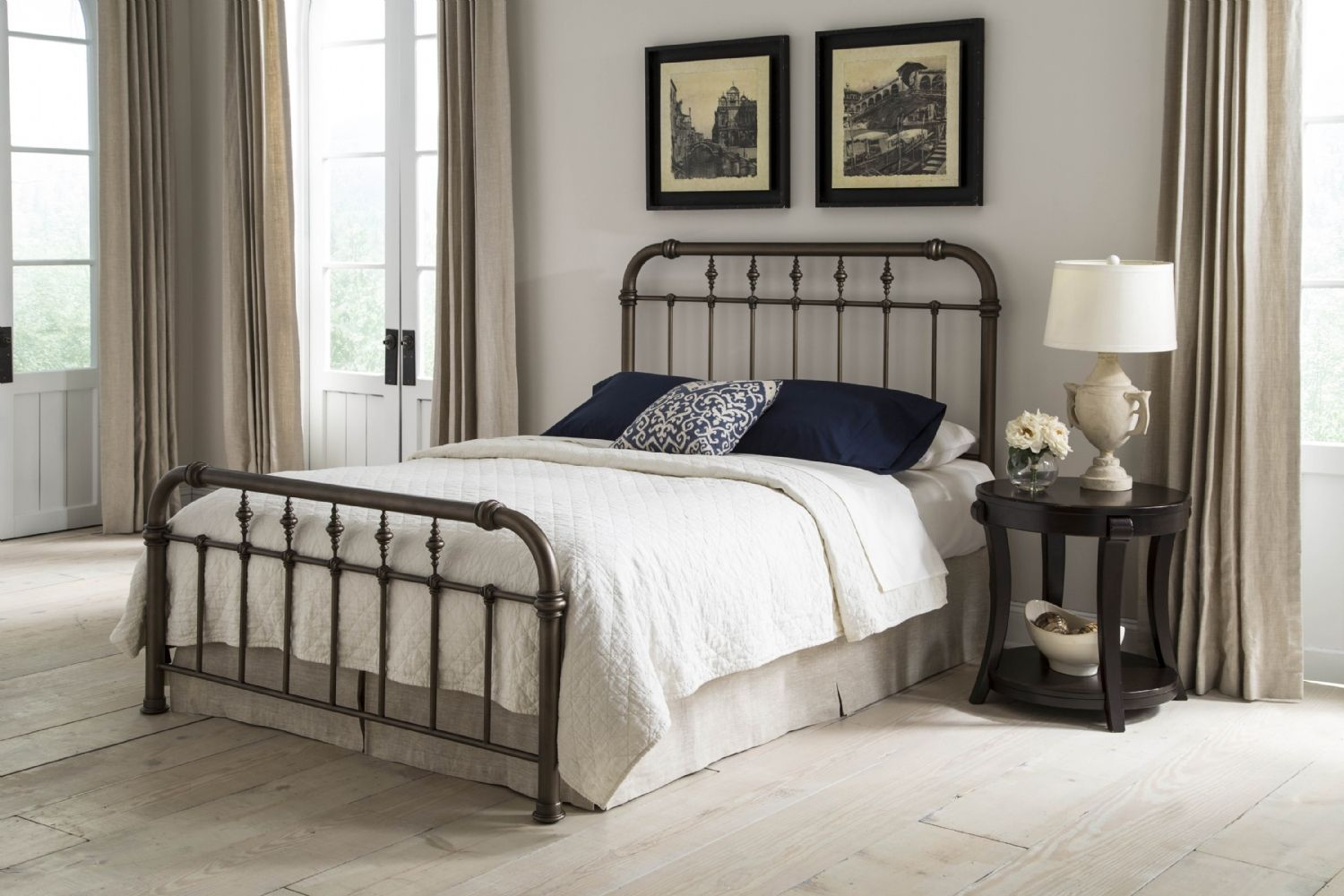 Vienna Bed Bed styling, Iron bed, California king size bed