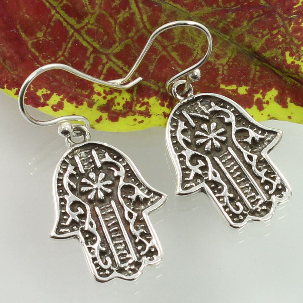 PLAIN Ethnic Jewelry 925 Solid Sterling Silver Earrings ! Handcrafted Collection…