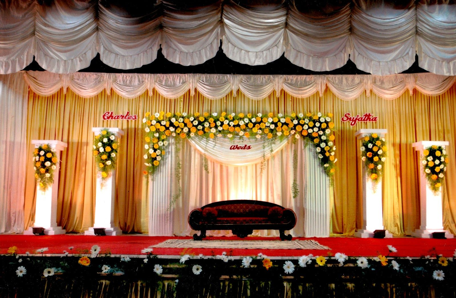 Indian Wedding Stage Decor Google Search