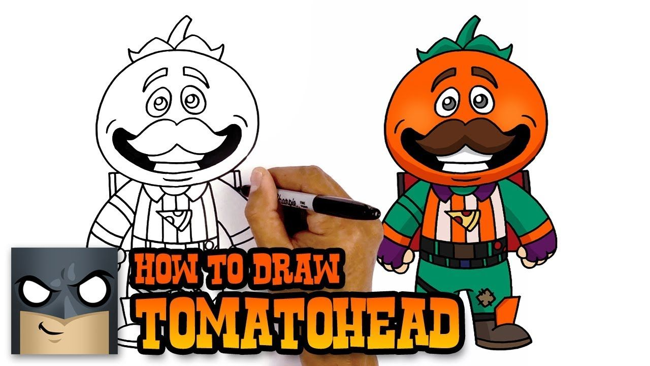 How To Draw Tomatohead Fortnite Art Tutorial Art Drawings
