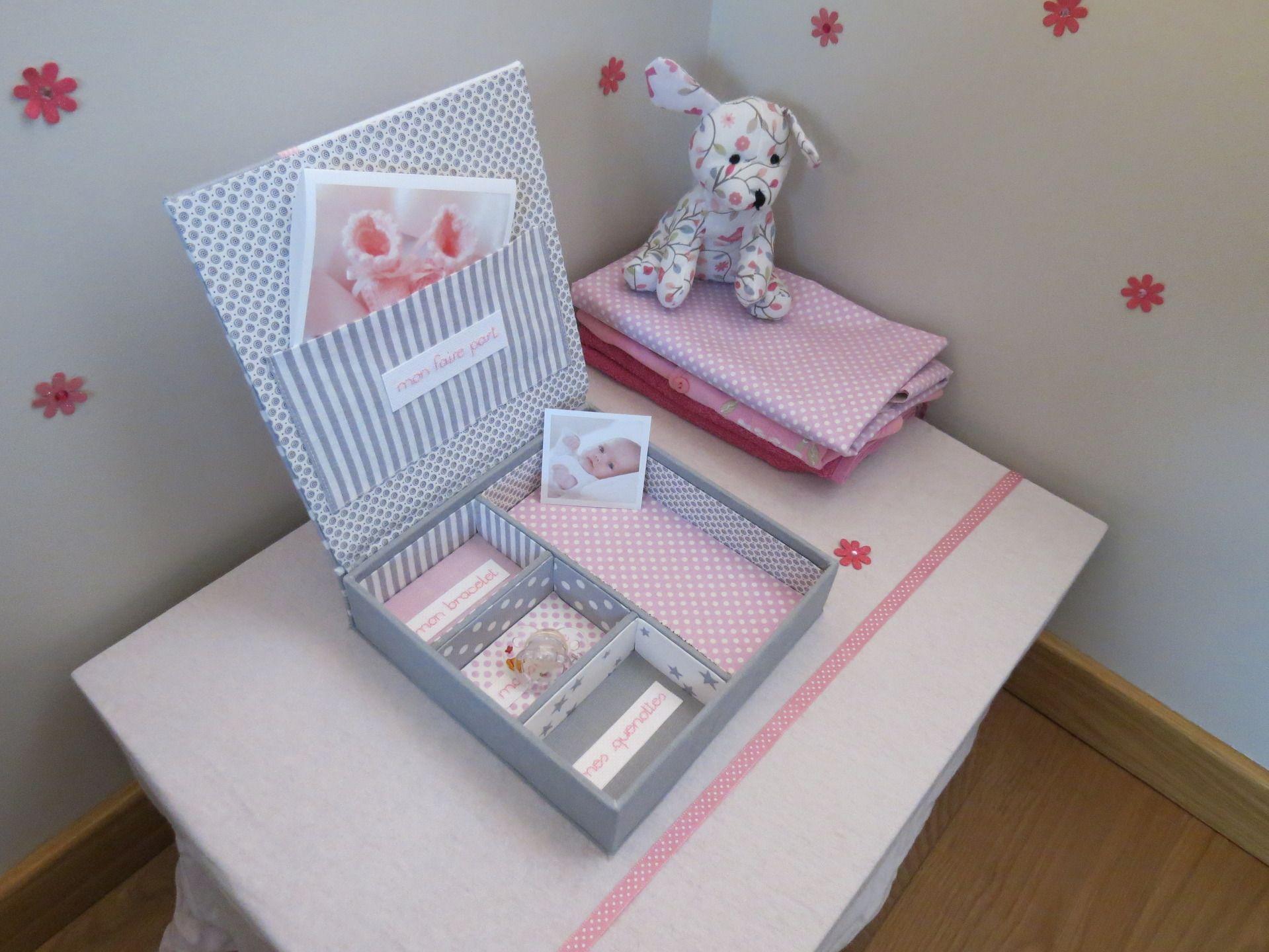 boite de naissance fille personnalisable pour ranger tous. Black Bedroom Furniture Sets. Home Design Ideas
