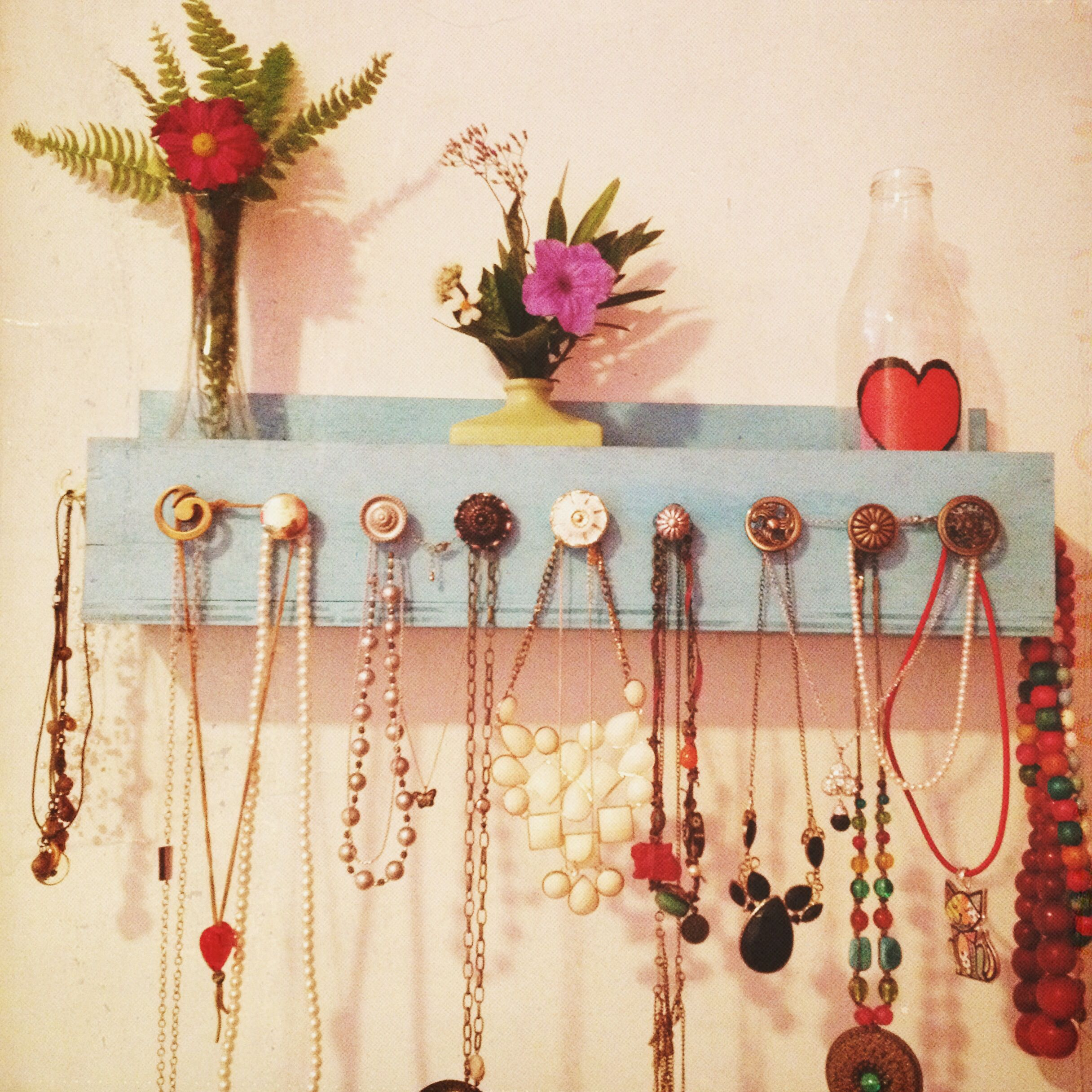 Porta collares diy moda decoraci n de interiores hogar - Accesorios hogar originales ...