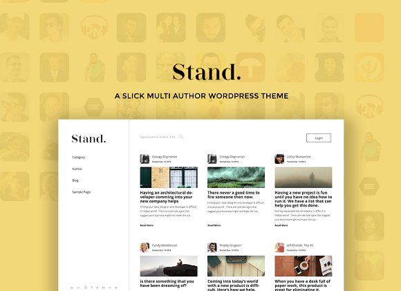 Stand Multi Author Wordpress Theme By Sleek Simple On Graphicsauthor Blog Themes Wordpress Wordpress Theme Theme