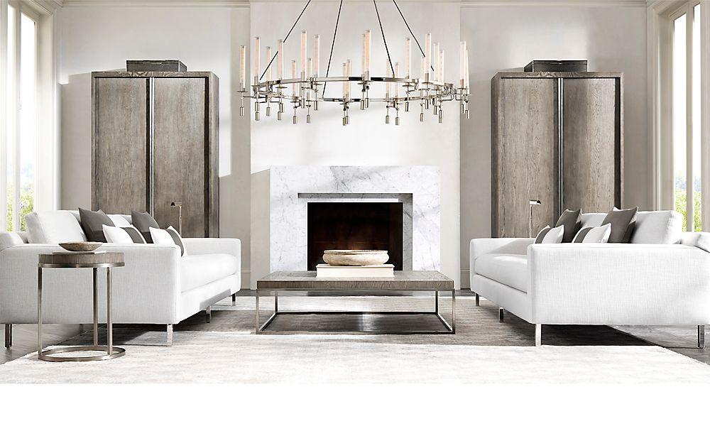 Restoration Hardware Is The World S Leading Luxury Home Furnishings Purveyor Offering Furniture Lighting Tex Decoracion De Unas Decoracion Salones Chimeneas