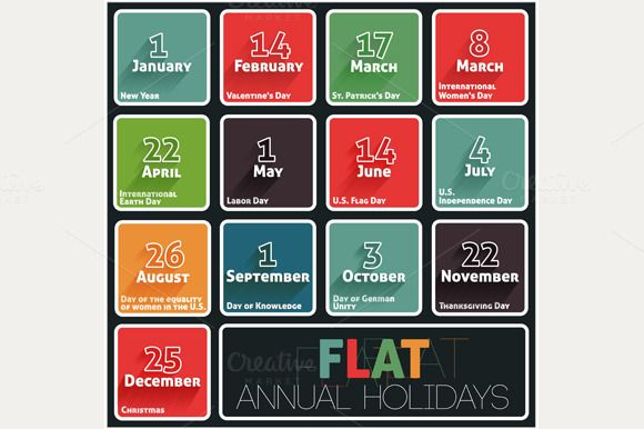 Check out Holidays calendar by robuart on Creative Market