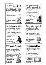 f32224f2d254 English worksheet  Newspaper Job Advertisements
