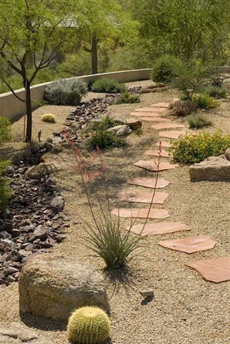 Colorful 65 Foremost Yard With Rock Makeover Ideas Desert