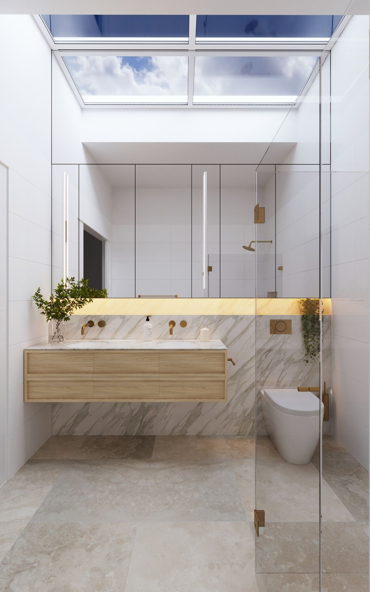 Mesmerizing master bathrooms with skylight skylightideas