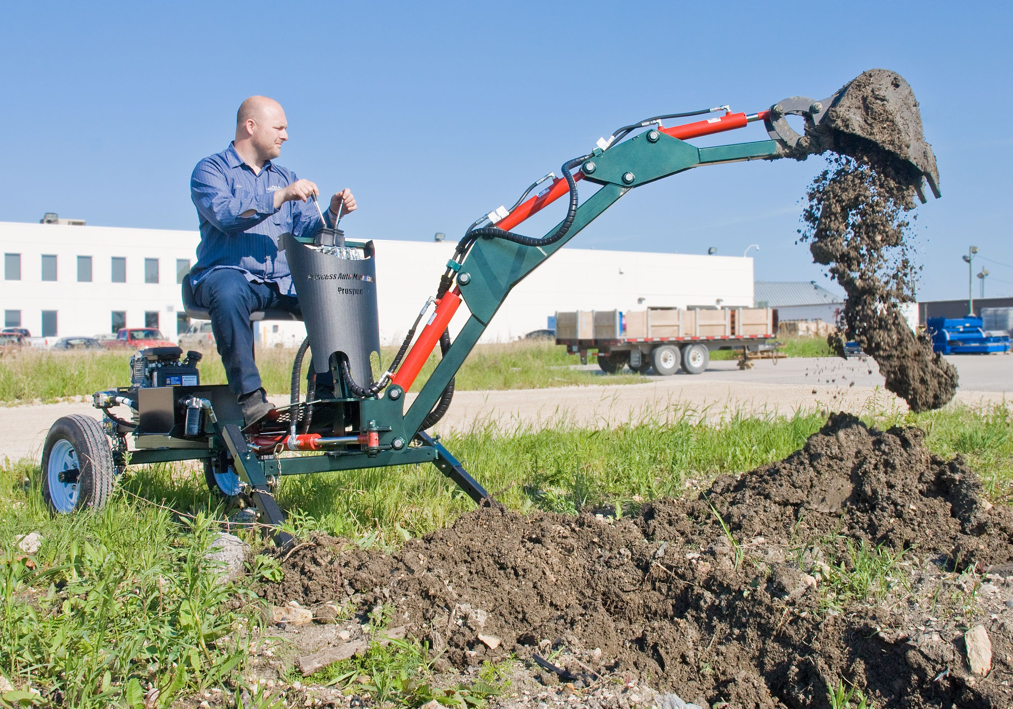 prospector towable excavator special order cool gadgets for