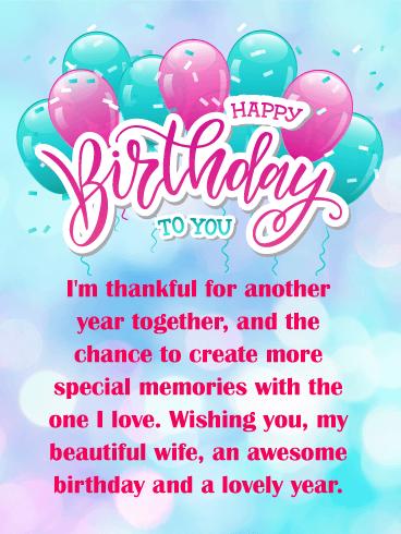 I M Thankful Happy Birthday Card For Wife Birthday Greeting Cards By Davia Happy Birthday Cards Images Romantic Birthday Wishes Birthday Cards Images